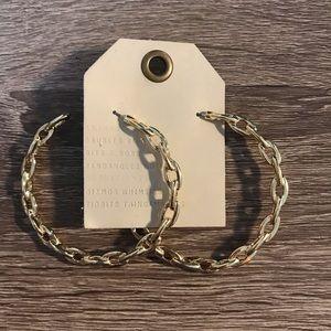 NWT Anthropologie Golden Hoop Earrings